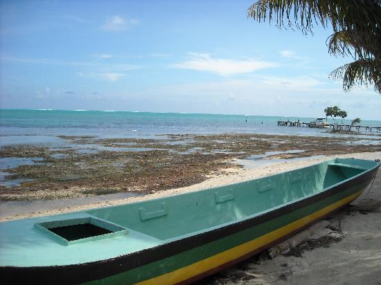 Maxhapan Cabanas: View from Caye Caulker