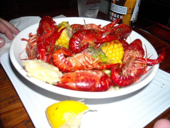 The Siesta Key Oyster Bar: Have you ever had crayfish (as we say in the north) or crawfish (as they say in the south)?