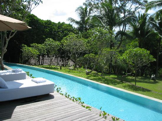 COMO Shambhala Estate: magnificent pool where we can do the water therapy and get some sun