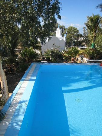 Evizorzia Villas: pool and the family chapel in the compound