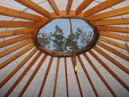 Union Bay Campground: Vent on top of Yurt