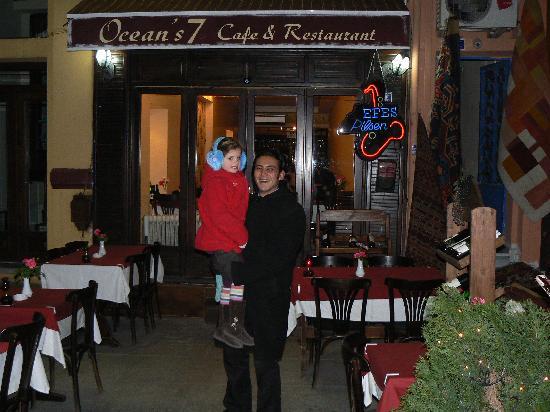 Oceans 7  Restaurant: Freya and Antonio From Ocean 7