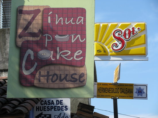 The Zihua Pancake House Sign
