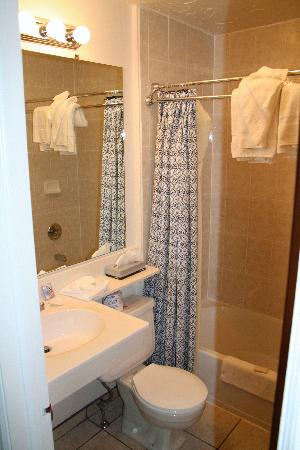 Sunrise Motor Inn: La salle de bain.