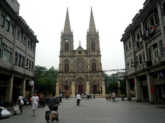 Sacred Heart Cathedral : 石室遠景