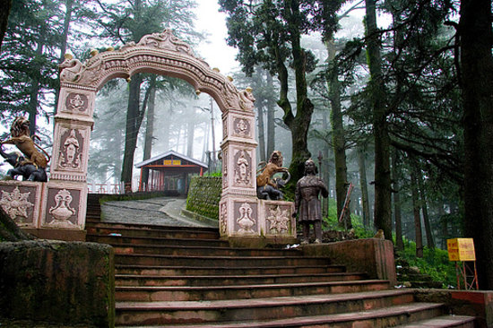 Shimla, India: Looking up the steps towards the main temple