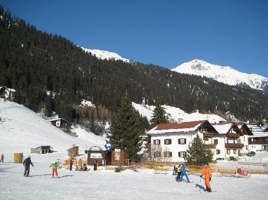 Chalet Rose: View from ski school to chalet