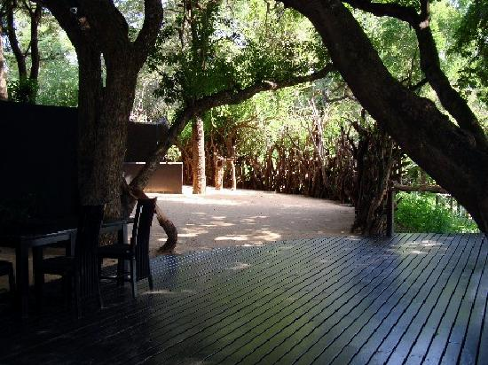 Lion Sands Ivory Lodge: boma