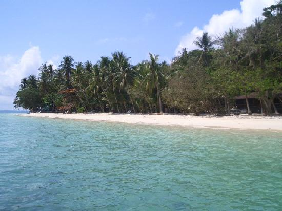 Homestay Bungalows: Superb beach