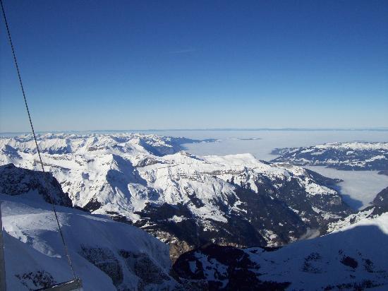 Hotel Hirschen: Clear day from the Jungfraujoch.