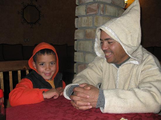 Riad Nezha : owner Ibrahim with his son
