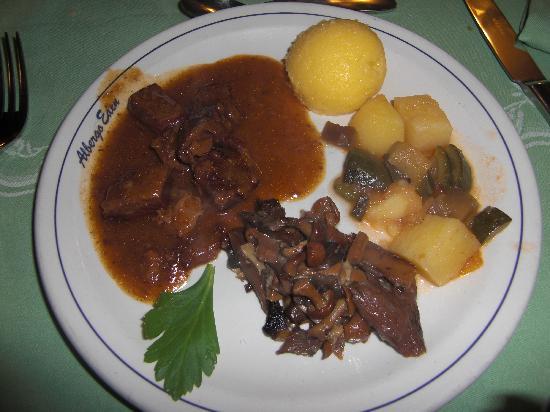 dinner at hotel eden