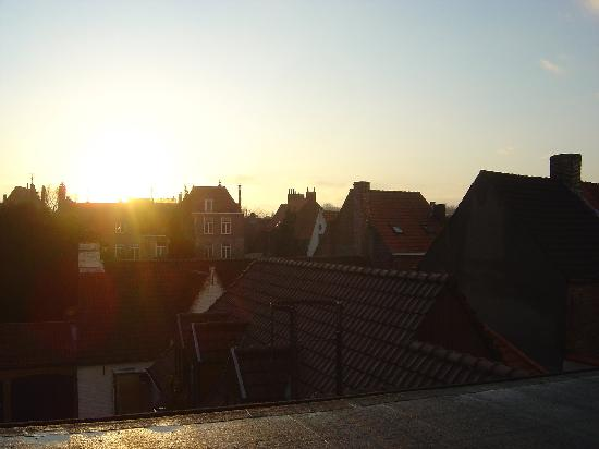 Hotel Prinsenhof Bruges: view from our room