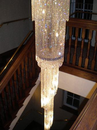 Lough Erne Resort: Crystal Chandelier on Back Stairs