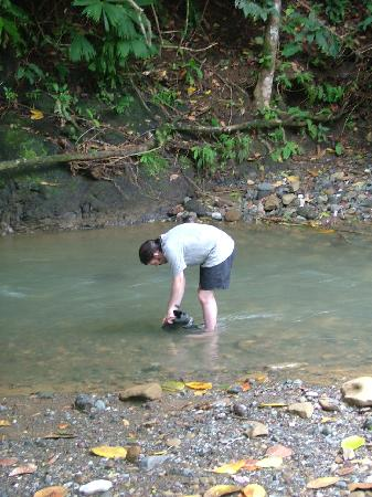 Rio Nuevo Lodge: Washing my boots