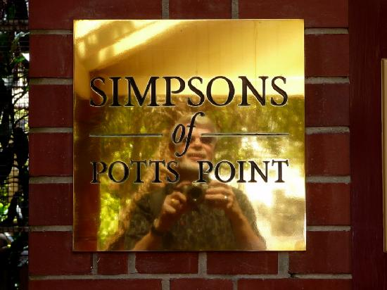 Simpsons of Potts Point Hotel: The Entrance Label