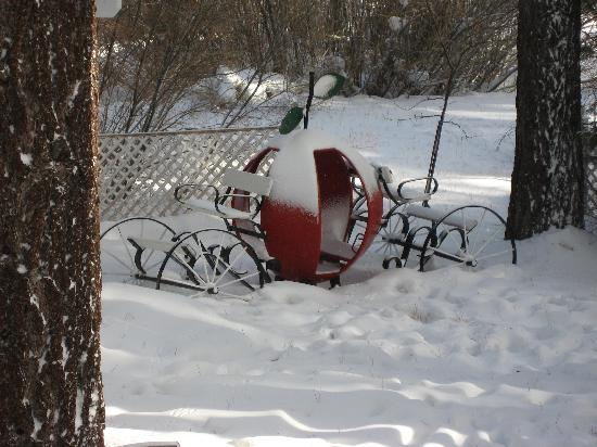 Apples Bed and Breakfast Inn: Apple carriage in the garden