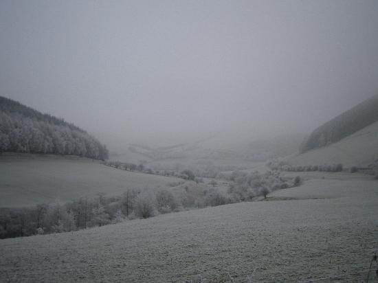 Eardisley, UK: Typical snowy landscape