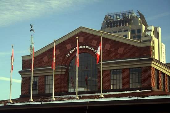 ByWard Market: Market Building with Flags