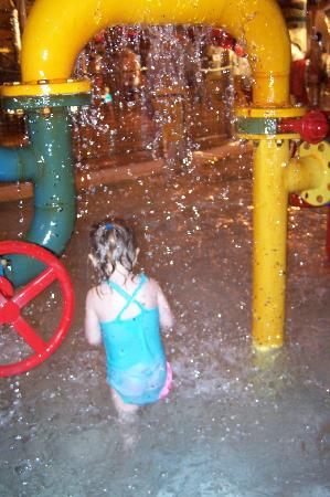 Great Wolf Lodge: kiddie fountain