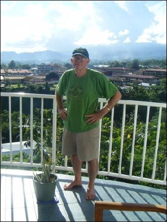 Tatiana Apartments - Apaula Heights : My dad standing out on the porch