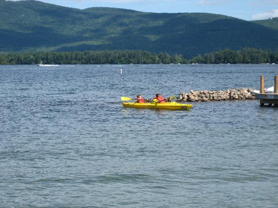 Golden Sands Resort on Lake George: breathtaking view from the lakeside rooms!
