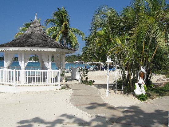 Sandals Negril Beach Resort Spa Wedding Gazebo Beachside