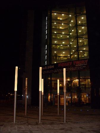 Tower Hotel Dublin: Outside the entrance of the hotel at night