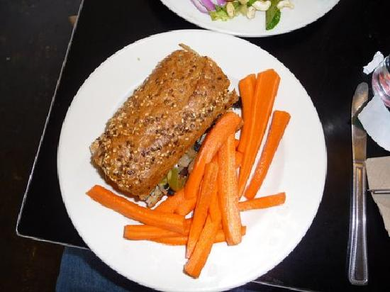 Vertical Diner: Portobello Cheese Steak with carrots