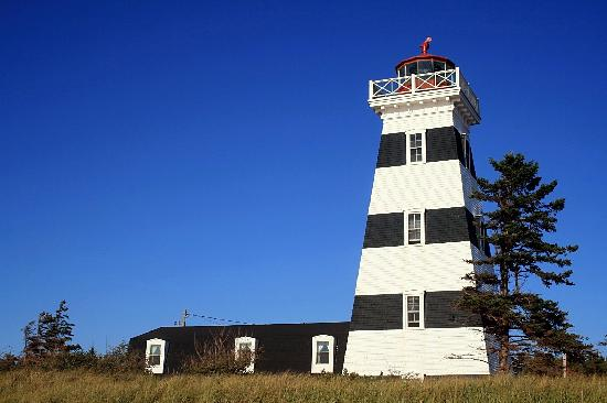 West Point, Canada: Lighthouse from Below