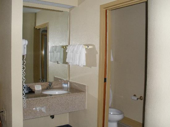 Sleep Inn: sink and bathroom