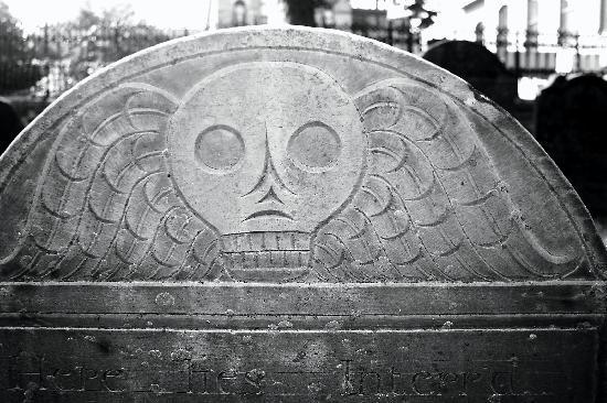Old Burying Ground: Death's Head Detail
