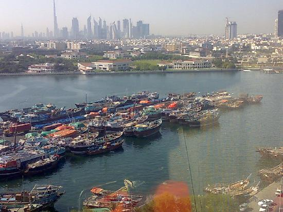 Hilton Dubai Creek: view of the creek from our room