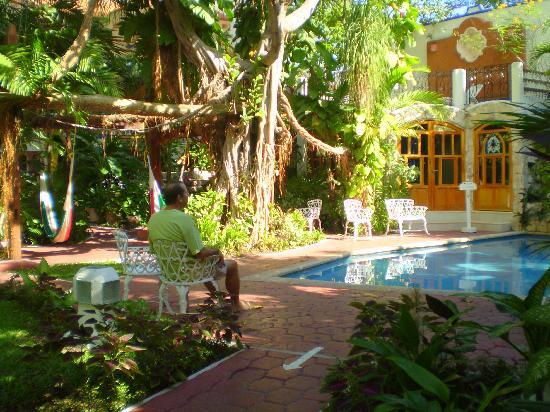 Eco-Hotel El Rey Del Caribe: Hotel courtyard and pool
