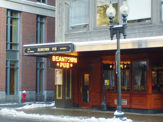 """Beantown Pub: Outside of the bar... definitely not """"fine pub"""" dining."""
