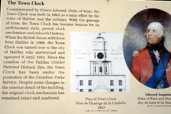 Old Town Clock: Information Plaque