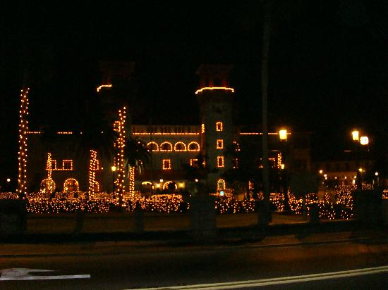 Hampton Inn St. Augustine-Historic District: Historic district lit up for the holidays