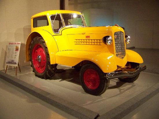 Saskatoon Western Development Museum- 1910 Boomtown: comfort tractor in vehicle display