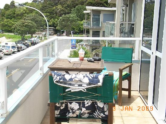 At Our Place Bed and Breakfast: Suite 2's half of shared front balcony.