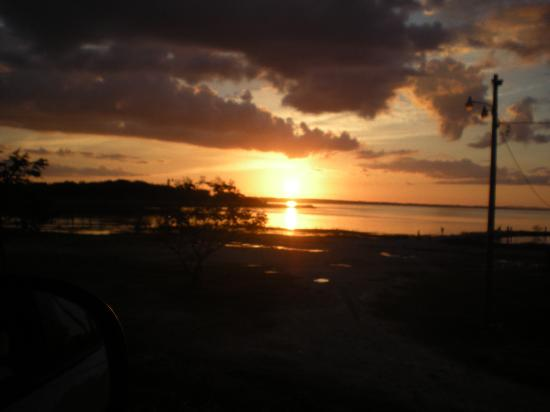 Flores, Gwatemala: sunset
