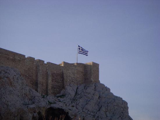 Hotel Phaedra: Vue de la chambre 312 sur l'arrière de l'Acropole