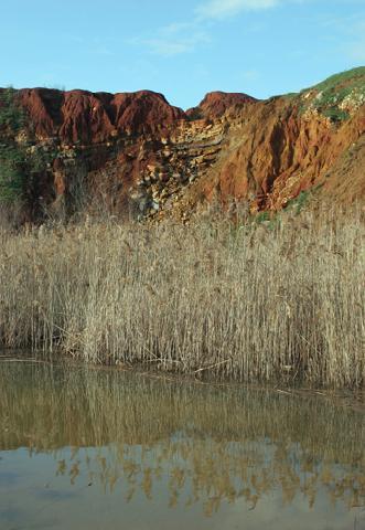 Bauxite deposit and lake near Otranto
