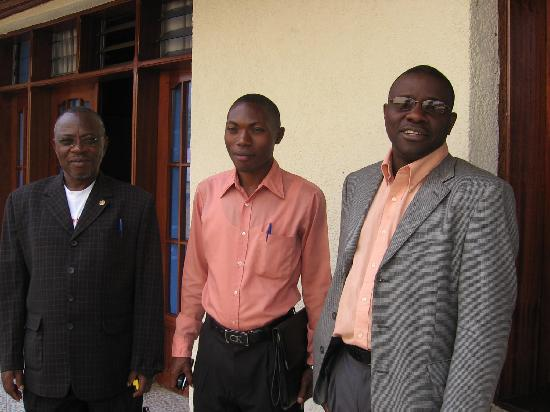 Butembo, República Democrática del Congo: the management crew and me