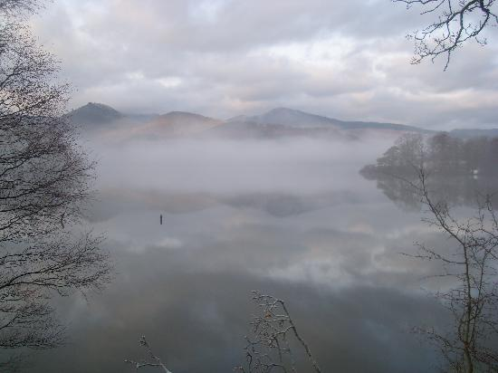Greystoke House: a misty winter morning on Derwentwater