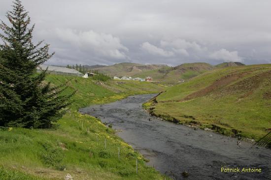 Guesthouse Frumskogar: das Tal oberhalb von Hveragerði