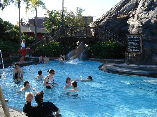 Volcano Pool W Water Slide And Waterfall Picture Of