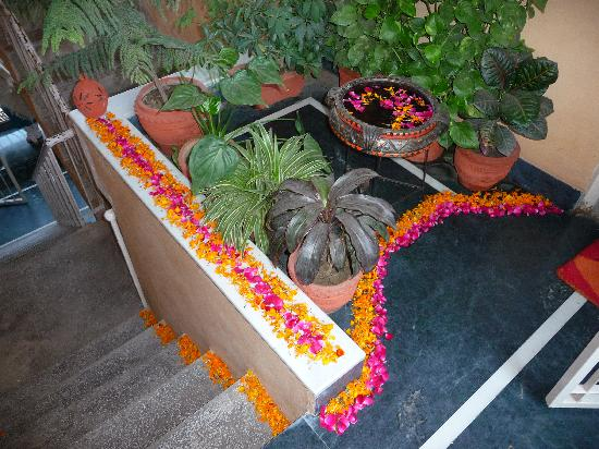 Chhoti Haveli: Flowers at the doorway every morning - so special!
