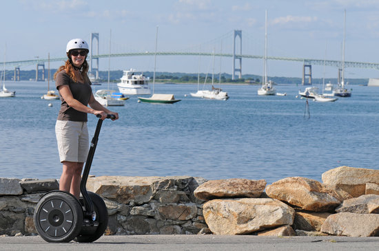 Segway of Newport: Here at King Park, there is a beautiful view of the Pell Bridge and Newport Harbor.