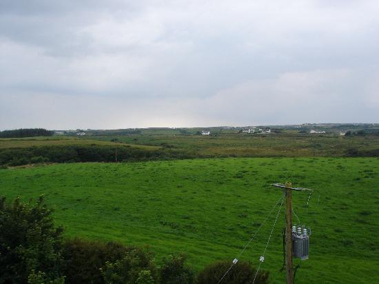 Lisdoonvarna, Irland: View from hotel window