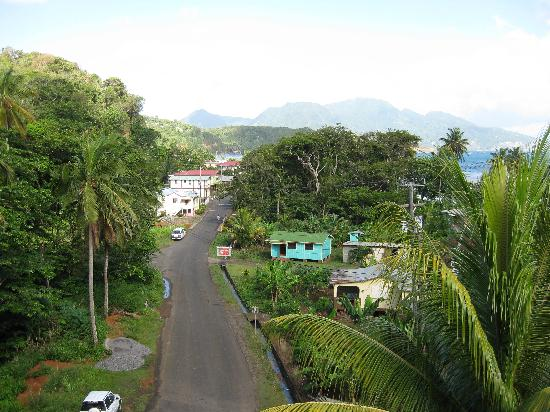 Calibishie Lodges: View from balcony